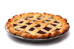 Homemade Cherry Pie. In a Foil Baking Tin Royalty Free Stock Image