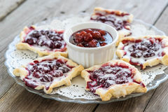 Homemade cherry pie on rustic background Stock Image