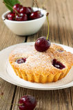 Homemade cherry pie on a white plate Royalty Free Stock Photo