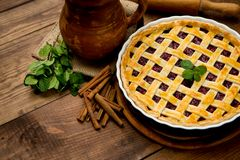 Homemade cherry pie Royalty Free Stock Photography