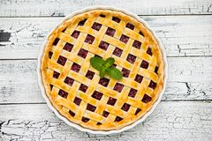 Homemade cherry pie Royalty Free Stock Images