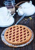 Homemade cherry pie Stock Photo