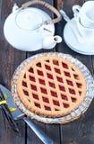 Homemade cherry pie Stock Photos
