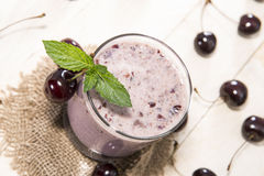 Homemade Cherry Shake Royalty Free Stock Photos