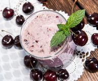Homemade Cherry Shake Royalty Free Stock Image