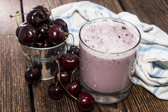 Homemade Cherry Shake Stock Image