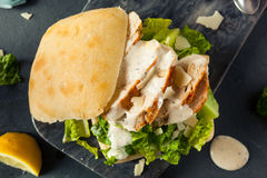 Homemade Chicken Caesar Sandwich Stock Images