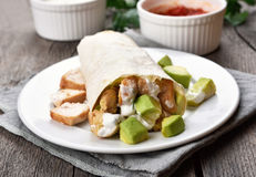 Homemade chicken fajitas Royalty Free Stock Images