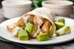 Homemade chicken fajitas with avocado Stock Photos
