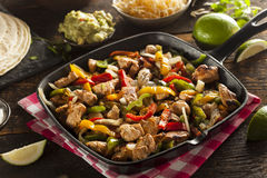 Homemade Chicken Fajitas with Vegetables Royalty Free Stock Photos
