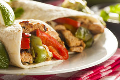 Homemade Chicken Fajitas with Vegetables Stock Photography