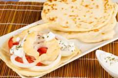 Homemade chicken gyros Royalty Free Stock Photos