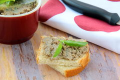 Homemade chicken liver pate Royalty Free Stock Photography