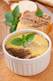 Homemade chicken liver pate Stock Photo
