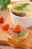 Homemade chicken liver pate Royalty Free Stock Images