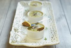 Chicken liver pate with mushrooms and thyme Stock Image