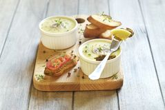 Chicken liver pate with mushrooms and thyme Royalty Free Stock Photography