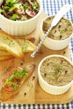 Chicken liver pate with pepper and thyme Royalty Free Stock Photos