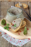 Homemade chicken liver pate Stock Photography