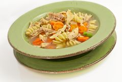 Homemade Chicken Noodle Soup Royalty Free Stock Photo