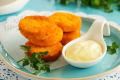 Homemade chicken nuggets Royalty Free Stock Images