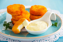 Homemade chicken nuggets Stock Images
