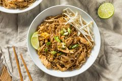 Free Homemade Chicken Pad Thai Stock Images - 145949964