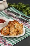 Homemade chicken patties royalty free stock image