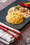 Homemade chicken with rice Thai style Stock Photography