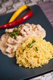 Homemade chicken with rice Thai style Royalty Free Stock Photos