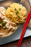 Homemade chicken with rice Thai style Royalty Free Stock Image