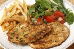 Homemade chicken schnitzels Stock Photography