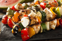 Homemade Chicken Shish Kabobs Royalty Free Stock Images