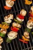 Homemade Chicken Shish Kabobs Stock Photo