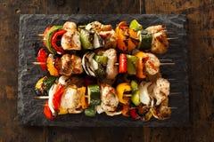 Homemade Chicken Shish Kabobs Stock Images
