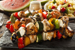 Homemade Chicken Shish Kabobs Royalty Free Stock Photos