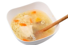 Homemade chicken soup Royalty Free Stock Image