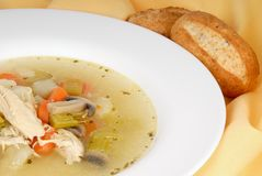 Homemade Chicken Soup Royalty Free Stock Photography