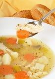 Homemade Chicken Soup Stock Photo