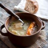 Homemade chicken soup Royalty Free Stock Photos