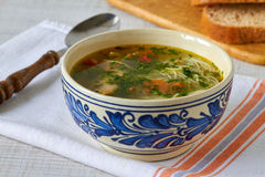 Homemade chicken soup Royalty Free Stock Images