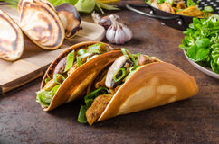 Free Homemade Chicken Tacos Stock Image - 77047771