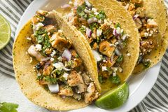 Free Homemade Chicken Tacos With Onion Royalty Free Stock Photography - 113387307