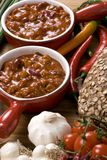 Homemade Chili 2. Homemade Chili with fresh vegetables herbs and spices Royalty Free Stock Images