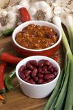 Homemade Chili 4. Homemade Chili with fresh vegetables herbs and spices Stock Photography