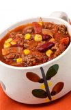 Chili Con Carne. Homemade Chili Con Carne in vertical format Stock Photos