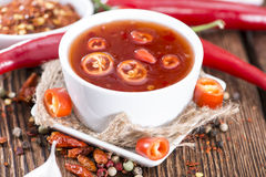 Homemade Chili Sauce Stock Photography