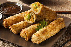 Homemade Chinese Vegetable EggRolls Royalty Free Stock Photo