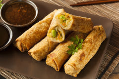 Homemade Chinese Vegetable EggRolls Royalty Free Stock Image