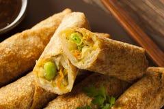 Homemade Chinese Vegetable EggRolls Stock Image